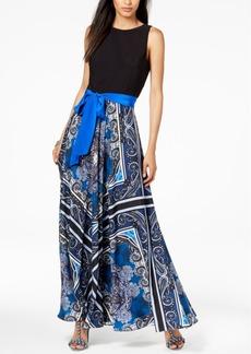 INC International Concepts I.n.c. Petite Scarf-Print Maxi Dress, Created for Macy's