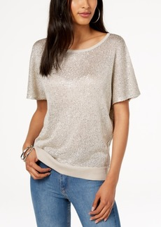 INC International Concepts I.n.c. Petite Sequined Open-Back Sweater, Created for Macy's