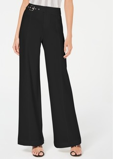 INC International Concepts Inc Side-Belt Wide-Leg Pants, Created for Macy's