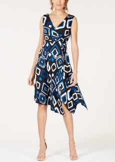INC International Concepts I.n.c. Petite Sleeveless Surplice Wrap Dress, Created for Macy's