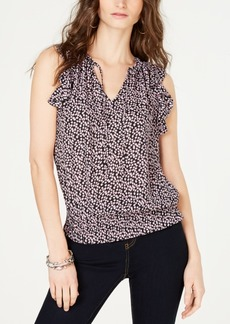INC International Concepts Inc Smocked-Hem Tie-Front Sleeveless Top, Created for Macy's