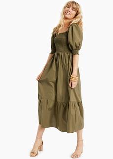 INC International Concepts Inc Petite Smocked Ruffled-Hem Dress, Created for Macy's
