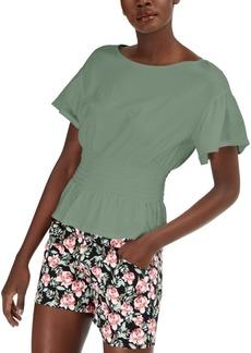 INC International Concepts Inc Smocked-Waist T-Shirt, Created for Macy's