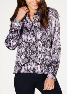 INC International Concepts I.n.c. Petite Snake-Embossed Blouse, Created for Macy's