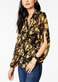 INC International Concepts I.n.c. Petite Split-Sleeve Floral Print Blouse, Created for Macy's