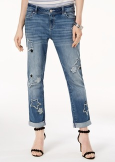 INC International Concepts I.n.c. Petite Stars Boyfriend Ankle Jeans, Created for Macy's