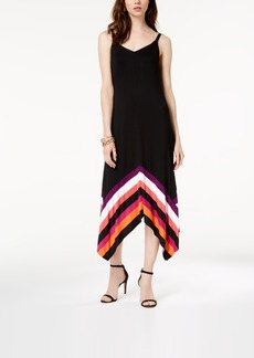 INC International Concepts I.n.c. Petite Striped-Border Handkerchief-Hem Maxi Dress, Created for Macy's