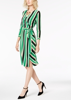 INC International Concepts I.n.c. Petite Striped Midi Wrap Dress, Created for Macy's