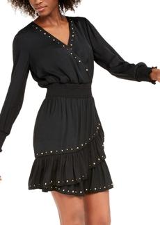 INC International Concepts I.n.c. Studded Ruffled Dress, Created For Macy's