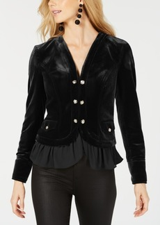 INC International Concepts I.n.c. Velvet Military Jacket, Created for Macy's
