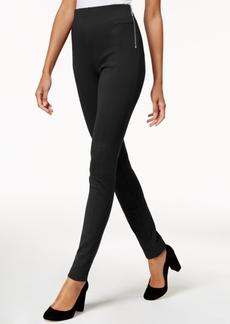 INC International Concepts I.n.c. Petite Zip-Detail Skinny Pants, Created for Macy's