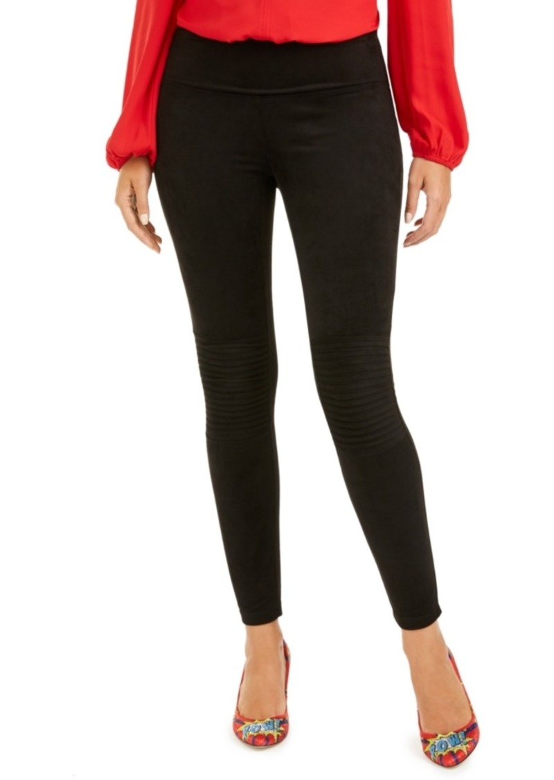 INC International Concepts Inc Pintucked Faux-Suede Leggings, Created For Macy's