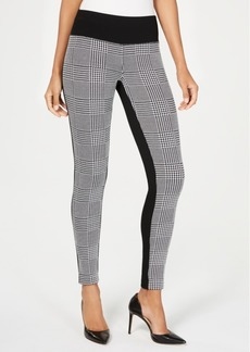 INC International Concepts Inc Plaid-Contrast Pull-On Pants, Created for Macy's