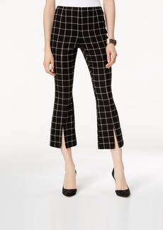INC International Concepts I.n.c. Plaid Cropped Kick-Flare Pants, Created for Macy's