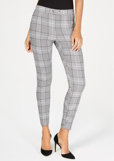 INC International Concepts Inc Plaid Skinny Pants, Created for Macy's