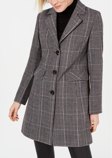 INC International Concepts I.n.c. Plaid Walker Coat, Created for Macy's