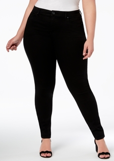 INC International Concepts Inc Plus and Petite Plus Size Tummy Control Beyond Stretch Skinny Jeans, Created for Macy's