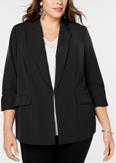 INC International Concepts I.n.c. Plus Size 3/4-Sleeve Blazer, Created for Macy's