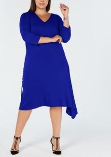 INC International Concepts I.n.c. Plus Size Asymmetrical-Hem A-Line Dress, Created for Macy's