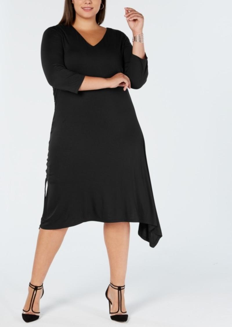 I.n.c. Plus Size Asymmetrical-Hem A-Line Dress, Created for Macy\'s
