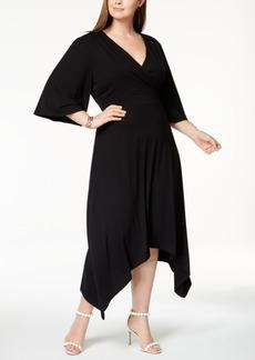 I.n.c. Plus Size Asymmetrical-Hem Midi Dress, Created for Macy's