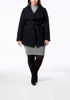 INC International Concepts I.n.c. Plus Size Belted Asymmetrical Coat, Created for Macy's