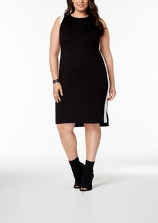 INC International Concepts I.n.c. Plus Size Colorblocked Sheath Dress, Created for Macy's