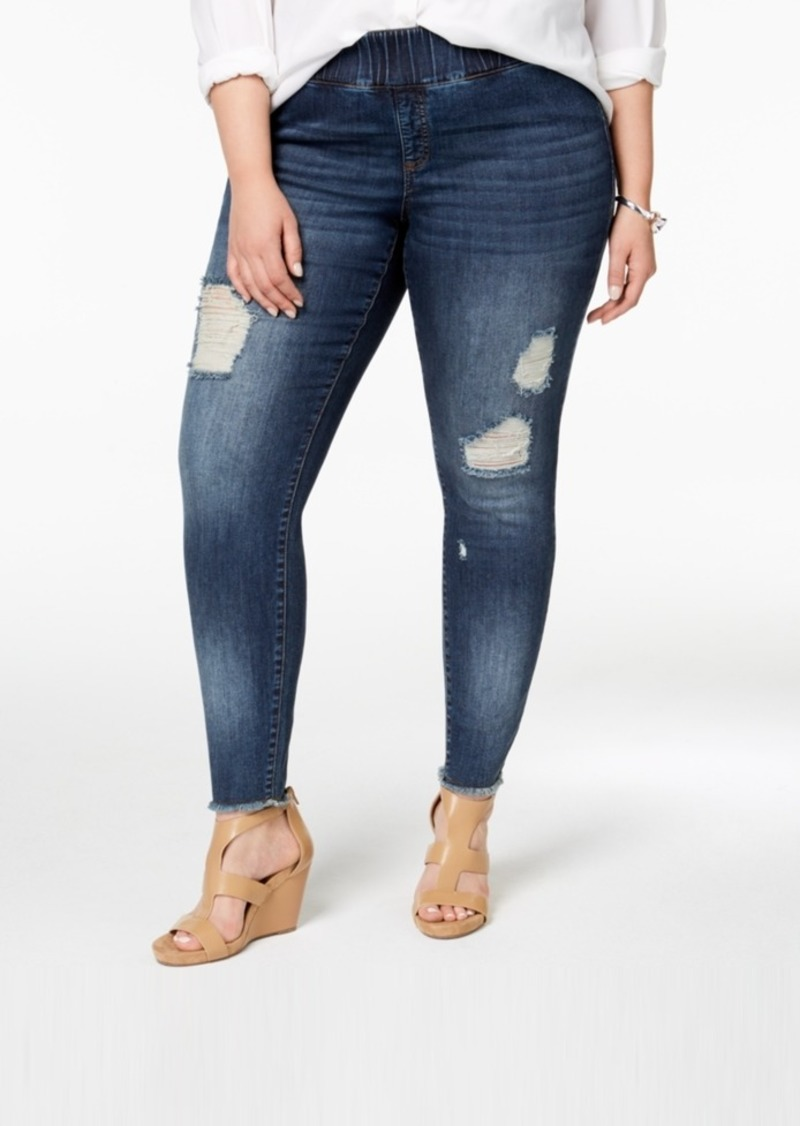 861ad0cca9114 INC International Concepts I.n.c. Plus Size Cotton Ripped Skinny ...