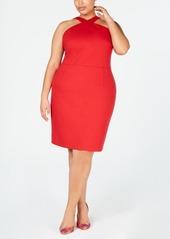 INC International Concepts I.n.c. Plus Size Crisscross Halter-Neck Dress, Created for Macy's