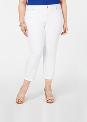 INC International Concepts I.n.c. Plus Size Cropped Boyfriend Jeans, Created for Macy's