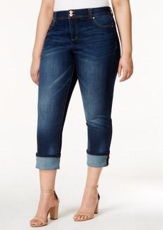 INC International Concepts I.n.c. Plus Size Cropped Straight-Leg Jeans, Created for Macy's