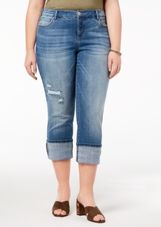 INC International Concepts I.n.c. Plus Size Cuffed Jeans, Created for Macy's