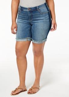 INC International Concepts I.n.c. Plus Size Denim Shorts, Created for Macy's