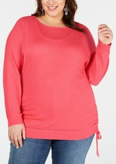 INC International Concepts I.n.c. Plus Size Drawstring Sweater, Created for Macy's