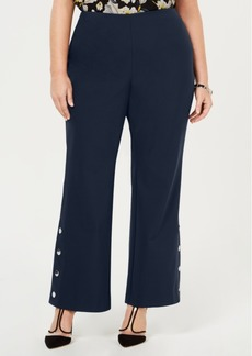 INC International Concepts I.n.c. Plus Size Embellished Bootcut Pants, Created for Macy's