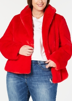 INC International Concepts I.n.c. Plus Size Faux-Fur Teddy Coat, Created for Macy's