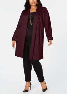 INC International Concepts I.n.c. Plus Size Faux-Suede Cocoon Jacket, Created for Macy's