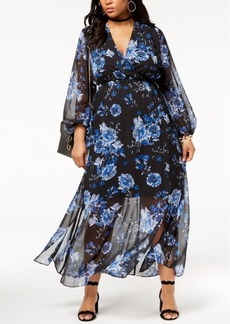 I.n.c. Plus Size Floral-Print Maxi Dress, Created for Macy's