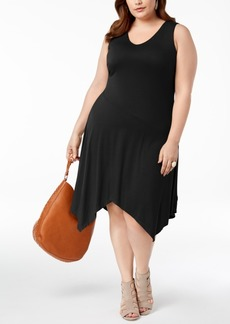 INC International Concepts I.n.c. Plus Size Handkerchief-Hem Dress, Created for Macy's