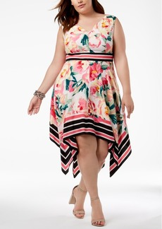 INC International Concepts I.n.c. Plus Size Handkerchief-Hem Fit & Flare Dress, Created for Macy's