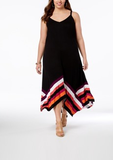INC International Concepts I.n.c. Plus Size Handkerchief-Hem Maxi Dress, Created for Macy's