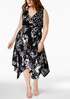 INC International Concepts I.n.c. Plus Size Handkerchief-Hem Wrap Dress, Created for Macy's