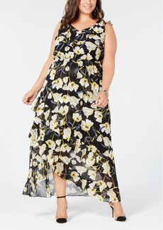 INC International Concepts I.n.c. Plus Size High-Low Maxi Dress, Created for Macy's