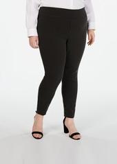 INC International Concepts Inc Plus Size Jacquard-Dot Slim Pants, Created for Macy's