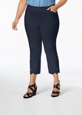 INC International Concepts Inc Plus Size Lace-Hem Capri Pants, Created for Macy's