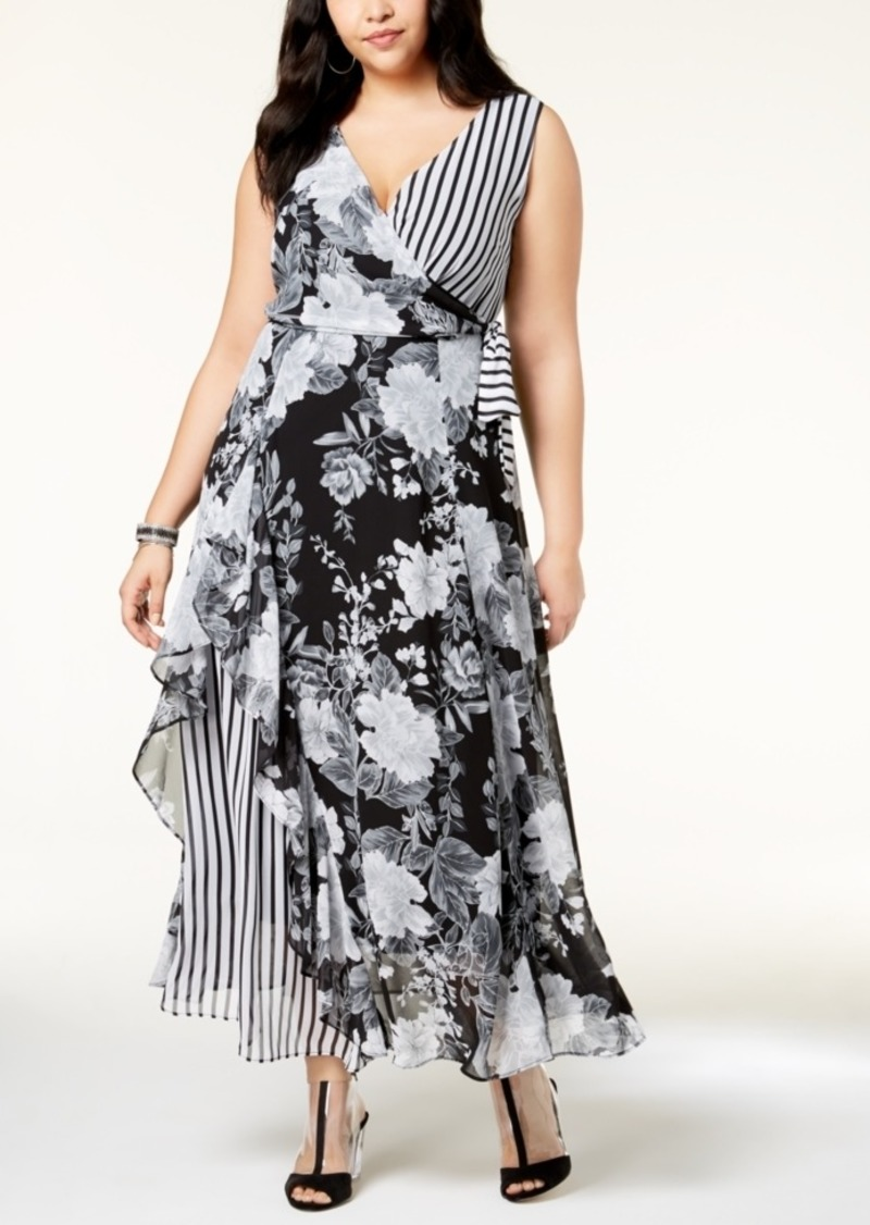 SALE! INC International Concepts I.n.c. Plus Size Mixed-Print Maxi ...