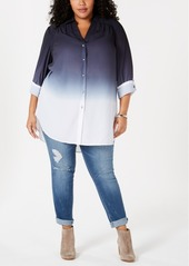 INC International Concepts Inc Plus Size Ombre Tunic, Created for Macy's