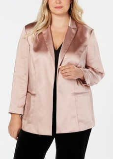 INC International Concepts I.n.c. Plus Size Open-Front Blazer, Created for Macy's