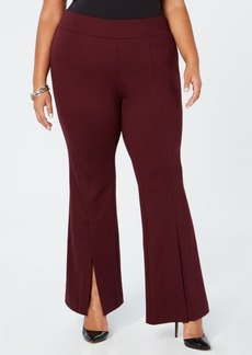 INC International Concepts I.n.c. Plus Size Ponte-Knit Slit-Front Pants, Created for Macy's