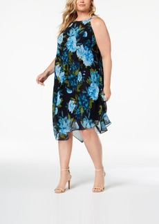 INC International Concepts I.n.c. Plus Size Printed Halter Midi Dress, Created for Macy's